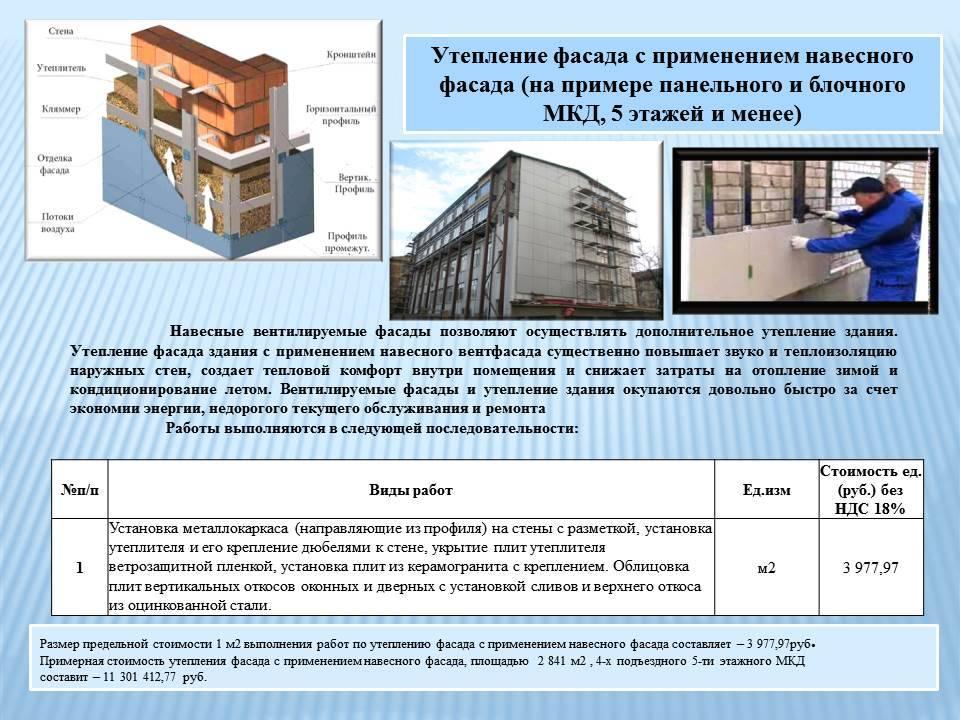 Ремонт фасада - как делается реконструкция и восстановление различных типов конструкций фасадов
