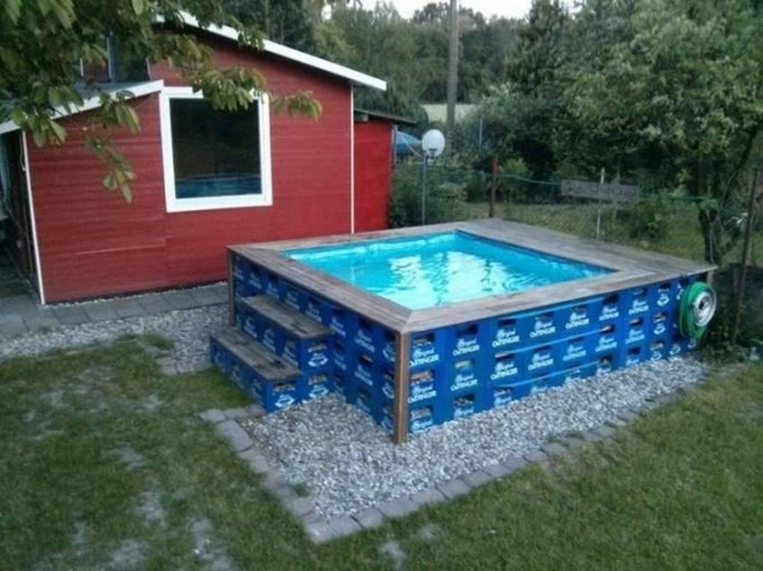 Как недорого сделать бассейн на даче своими руками: разновидности, используемые материалы, ход работ