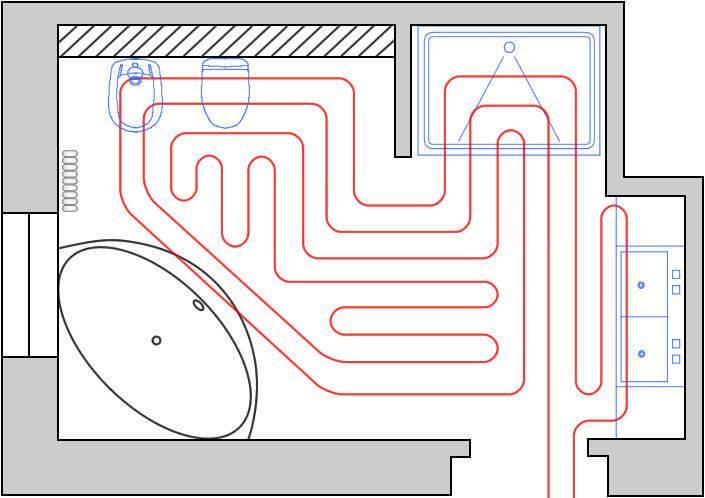 Водяной теплый пол своими руками (87 фото): как правильно сделать монтаж и укладку, верная схема расчета подключения