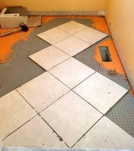 Укладка плитки по диагонали самостоятельно - фото примеров