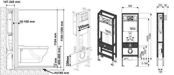 Высота инсталляции для унитаза: от чего зависит высота установки инсталляции, нормы