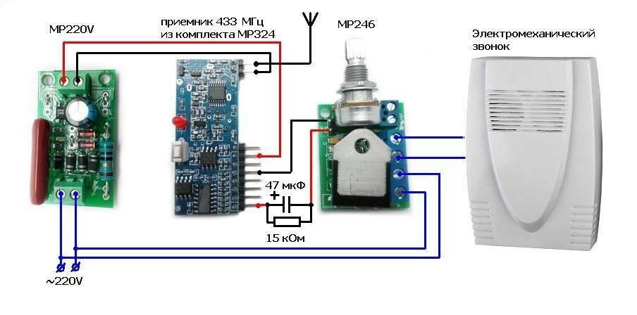 Как подключить дверной звонок? подключение в квартире и частном доме. схема установки звонка 220 в через кнопку. как установить проводной звонок на 2 провода своими руками?