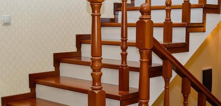 Этапы отделки бетонных лестниц деревом