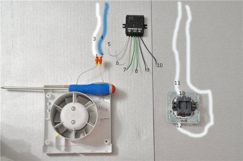 Вентилятор в ванную: подключения к выключателю и с таймером