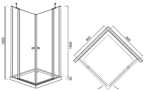 Угловые душевые кабины – размеры и варианты конструкций