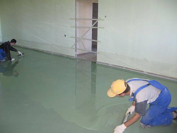 Наливной пол на цементной основе: какой состав лучше, гипсовый или цементный, смеси своими руками, фото и видео
