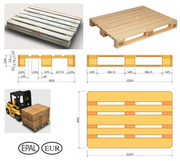 Размеры и вес палет: стандартные габариты финских поддонов, для кирпича и других видов. их высота, длина и ширина. сколько весят?