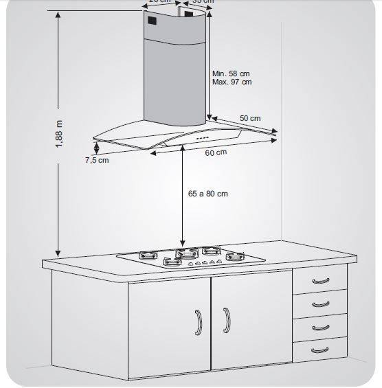 Как выбрать расстояние от газовой плиты до вытяжки
