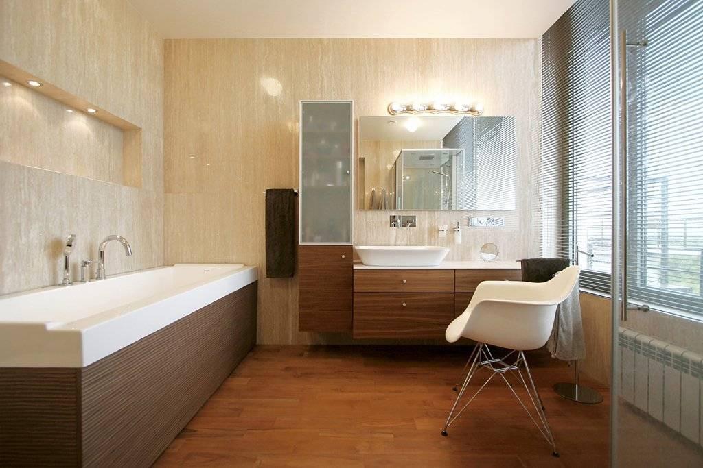 Чем отделать стены в ванной комнате - 92 фото примера