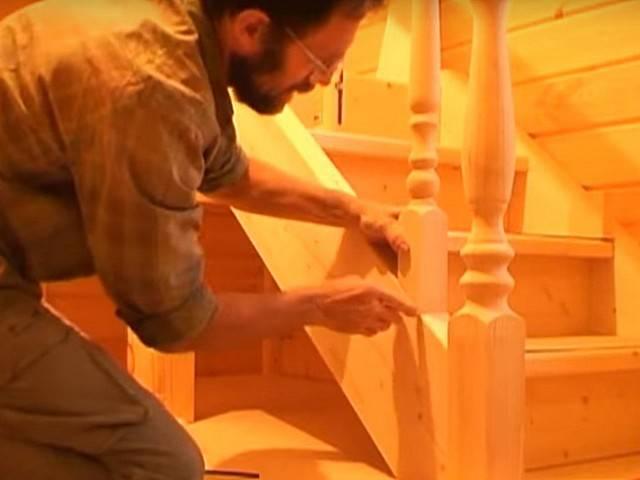 Установка деревянных лестниц: основные требования и технологии, видео, цена