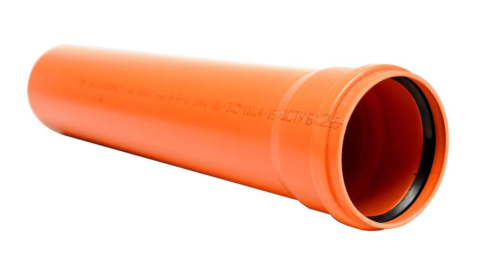 Канализационные трубы пвх, диаметр от 50 до 110 миллиметров, таблица размеров для различных канализационных стоков