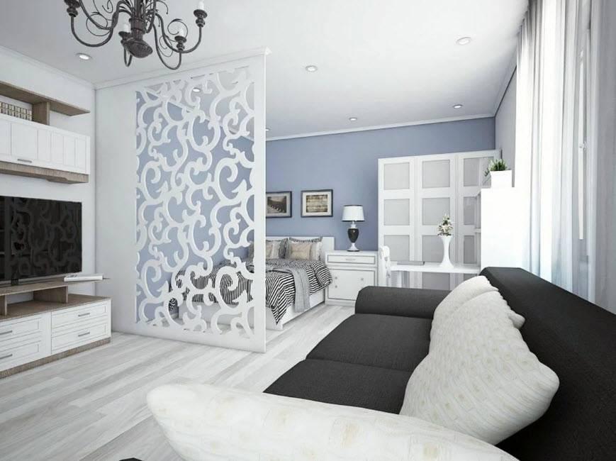 Дизайн однокомнатной квартиры 40 кв м— лучшие фото ипроекты на2019