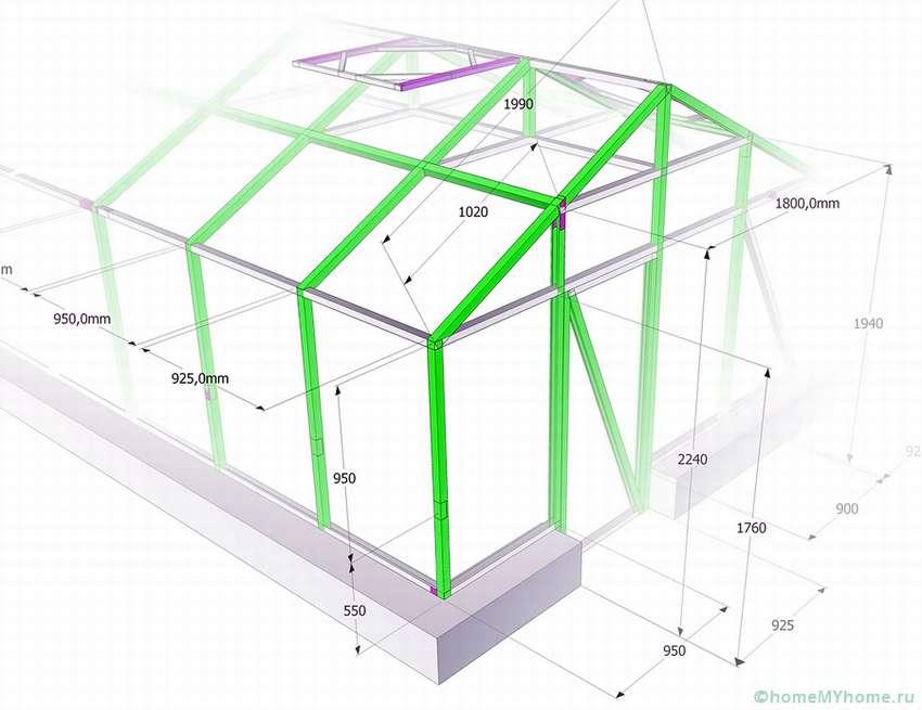 Варианты изготовления теплиц из поликарбоната