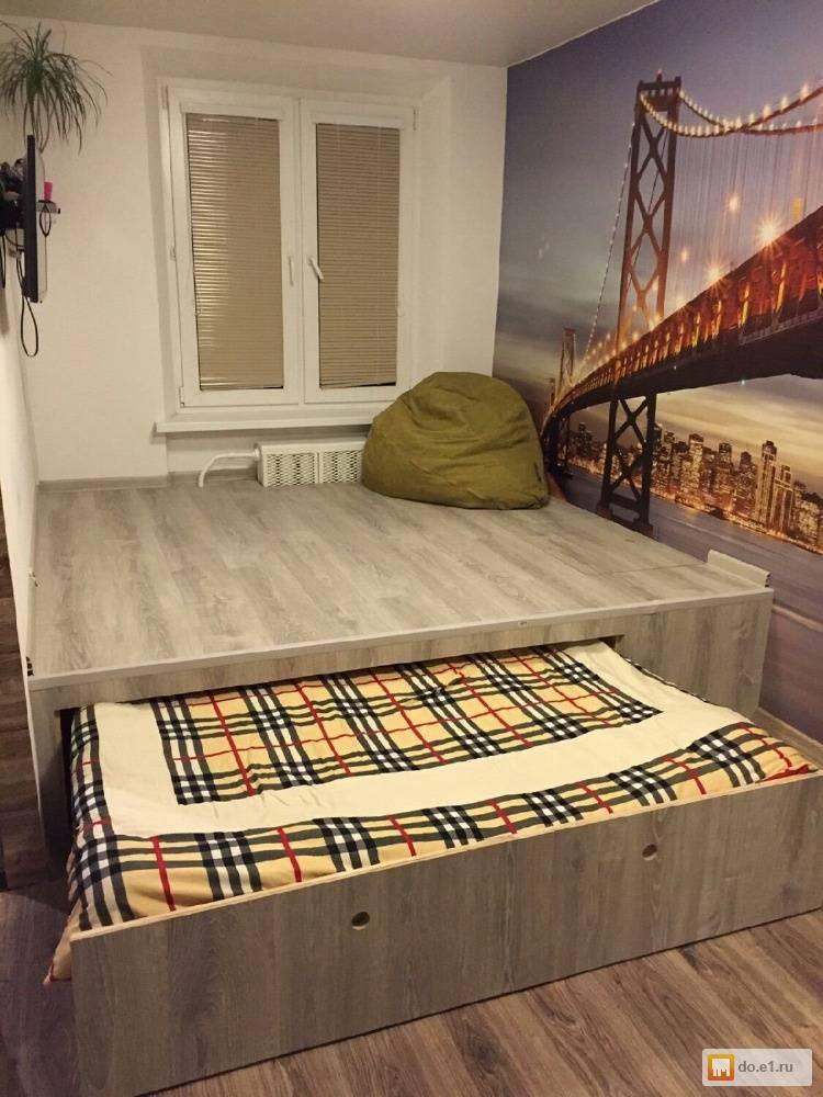 Кровать подиум своими руками - фото примеров