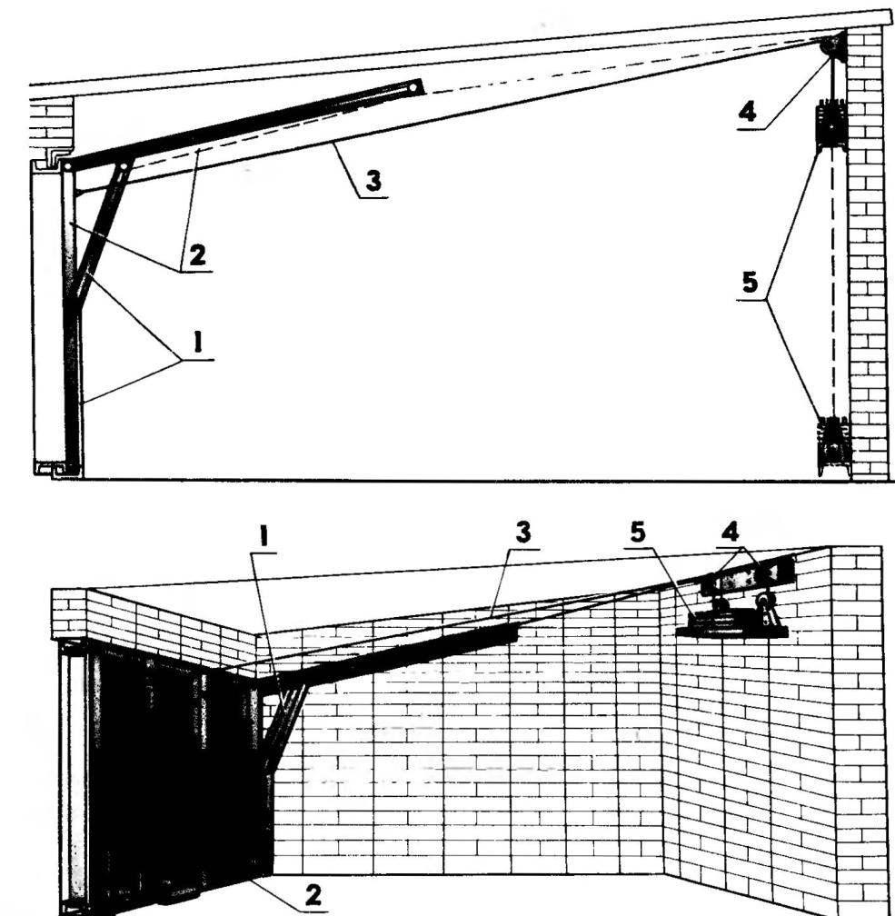 Как самостоятельно изготовить подъемно-поворотные ворота? - строй-шпаргалка