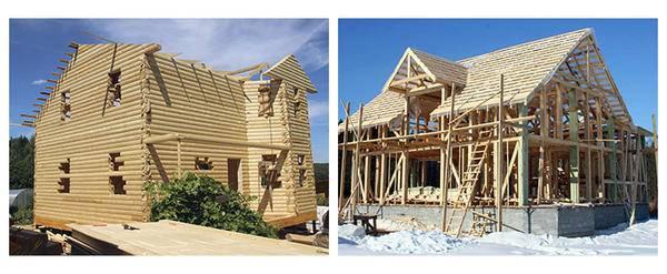 Дом бревенчатый или из бруса каркасный: что лучше построить
