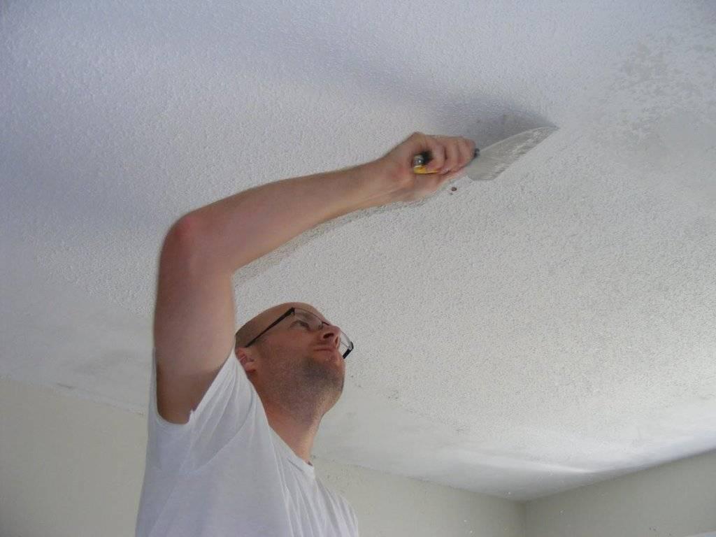 Штукатурка потолка: как оштукатурить потолок своими руками