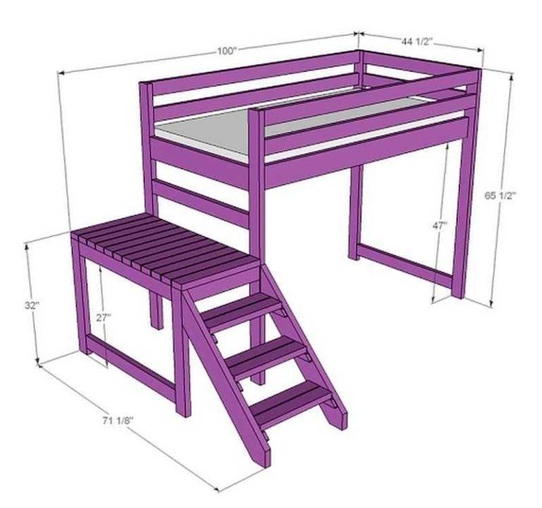Делаем кровать чердак сами (2 фотоотчета + чертежи)   мебельный журнал - все о мебели