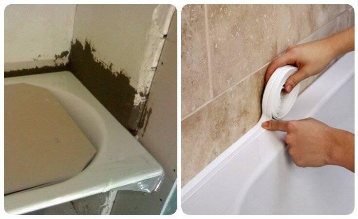 Чем лучше всего заделывать стык между ванной и стеной?
