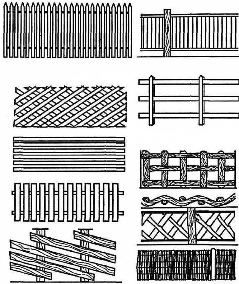Как построить забор из дерева своими руками: пошаговая инструкция с фото, видео и чертежами, варианты ограждений для дачи и выбор материалов
