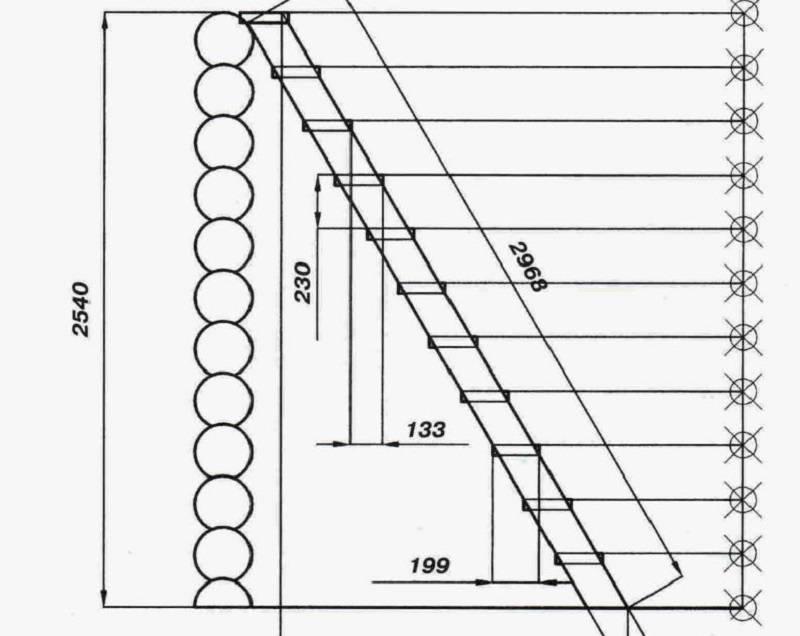 Калькулятор расчета прямой лестницы на второй  этаж