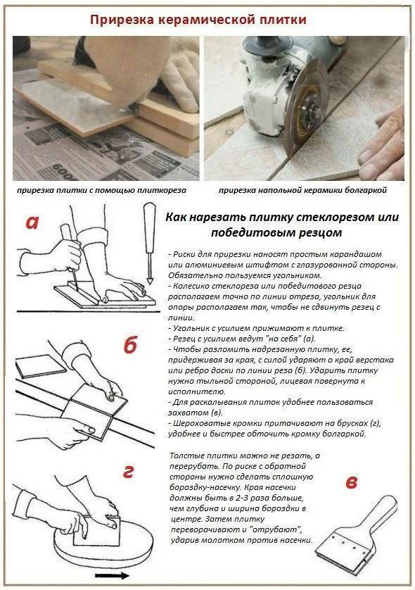 Укладка плитки на пол своими руками - видео и фото порядок работ