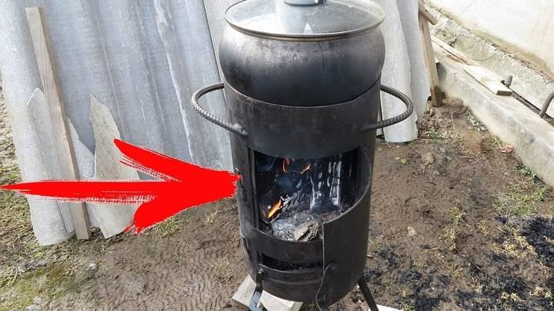 Печь для казана своими руками для дачи, как сделать из металла