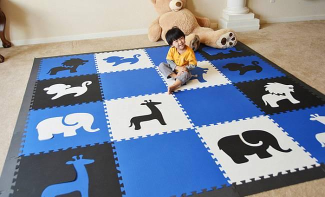 Мягкий пол для детских комнат и теплый коврик пазл