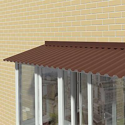 Балкон на крыше дома своими руками