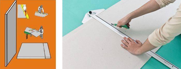 Как резать гипсокартон? чем пилить изделие в домашних условиях, как правильно отрезать материал, резка гипсокартона