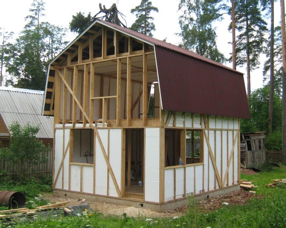 Как построить дачный домик своими руками, строительство каркасного дома на бетонном фундаменте