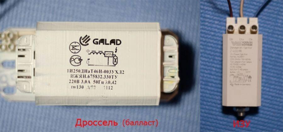 Технические характеристики и световой поток ламп днат на 250 вт