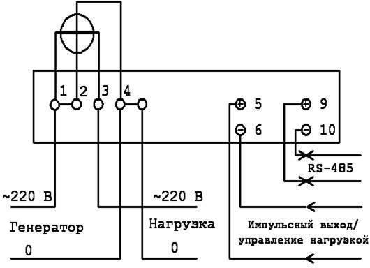 Схемы подключения однофазного счетчика - tokzamer.ru