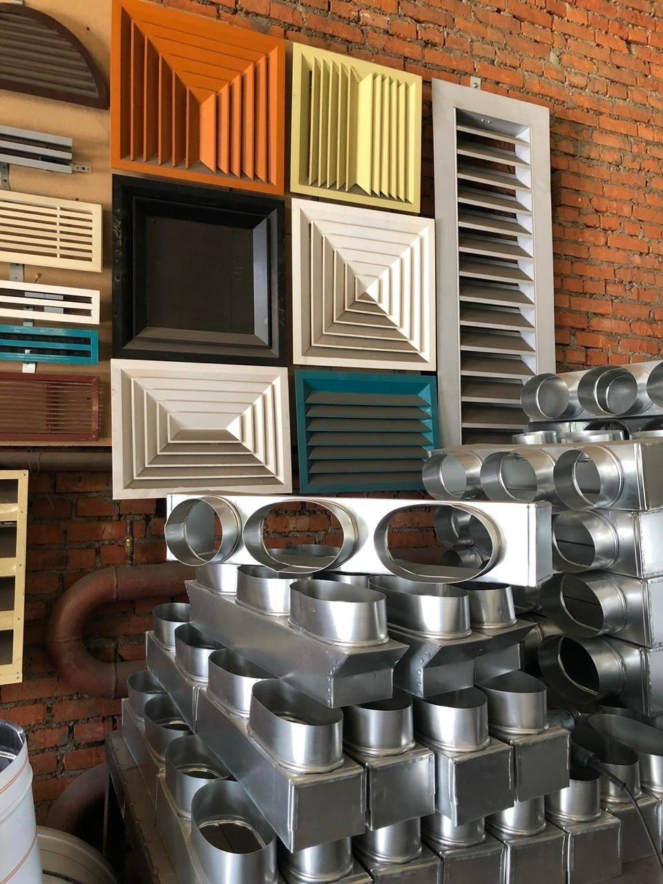 Разновидности и особенности металлических элементов для вентиляции: воздуховодов, труб, коробов, решеток