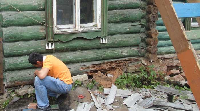 Как поменять брус в стене? - о строительстве и ремонте простыми словами
