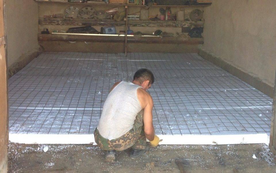 Как сделать бетонирование пола в гараже своими руками