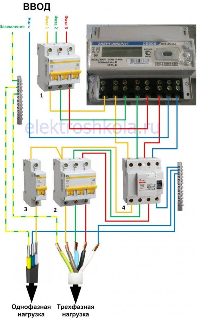 Схема вводного щита 380в – советы электрика