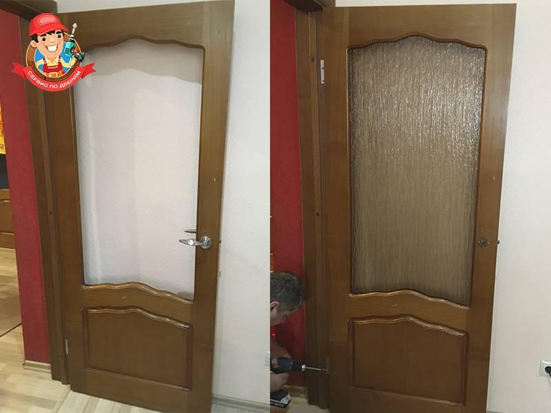 Как поменять стекло в межкомнатной двери