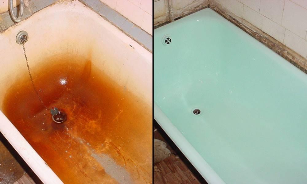 Реставрация чугунных и акриловых ванн своими руками в домашних условиях: все способы