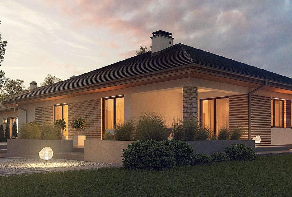 Проекты одноэтажных домов 70 кв. м: планы кирпичных домов и каркасных, из газобетона и других материалов, дома с террасой и их дизайн