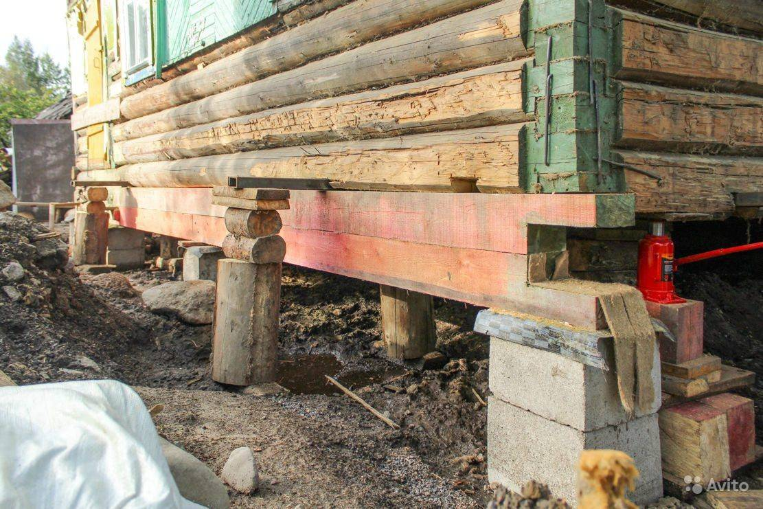 Как поднять деревянный дом