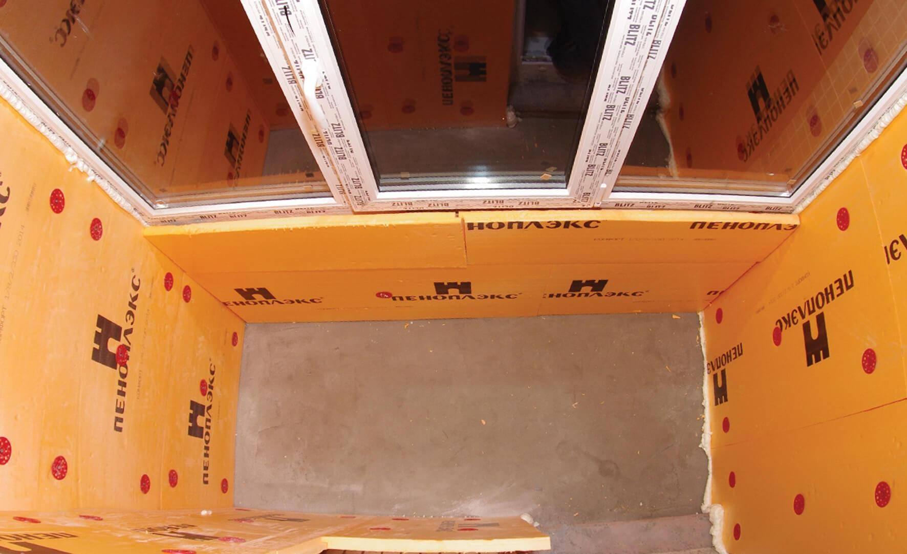 Утепление балкона пеноплексом своими руками (11 фото)