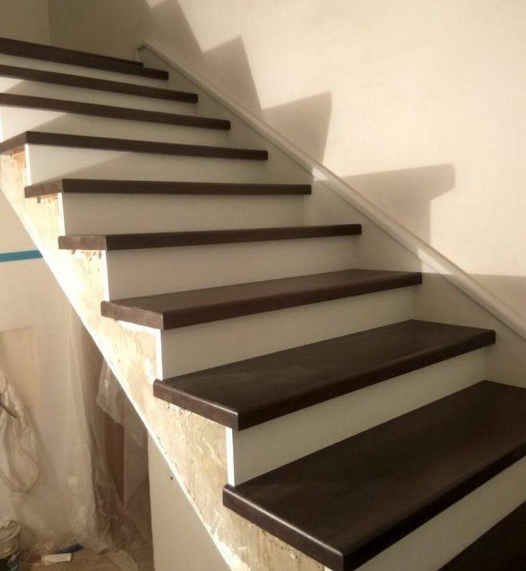 Отделка бетонной лестницы деревом: пошаговая отделка бетонных лестниц деревом в частном доме с фото инструкциями