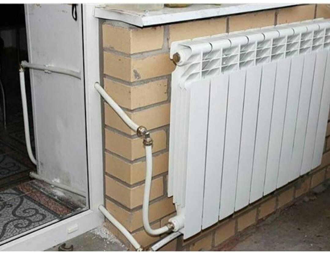 Как провести отопление на лоджию. вынос радиатора.