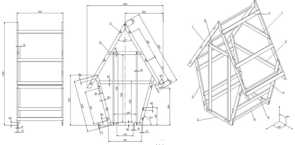 Как сделать туалет на даче своими руками: чертежи, размеры