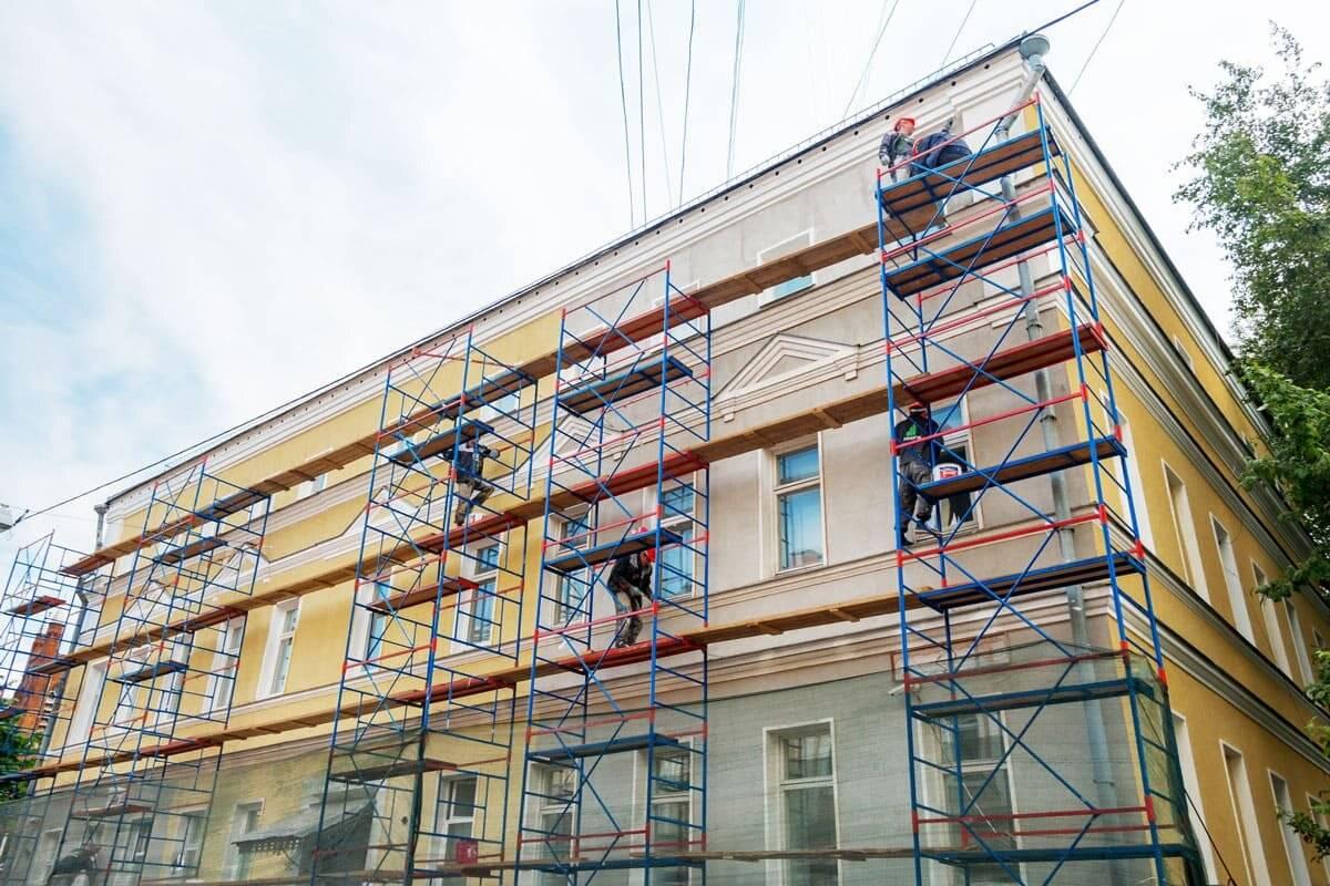 Ремонт фасада: новая жизнь старого здания