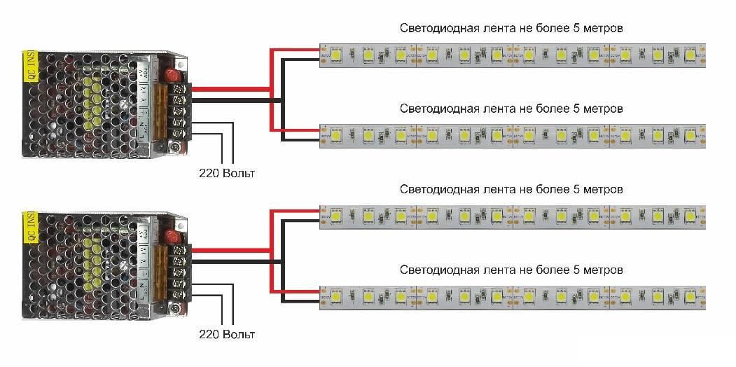 Как подключить светодиодную ленту к источнику питания рекомендации по выбору провода и монтажу