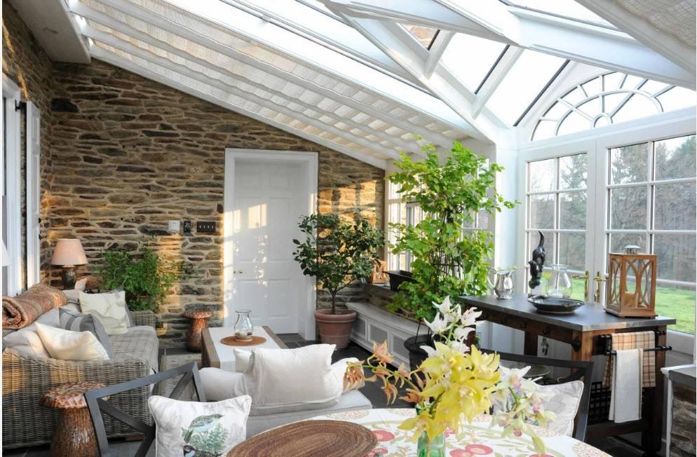 Каким построить зимний сад в своем доме