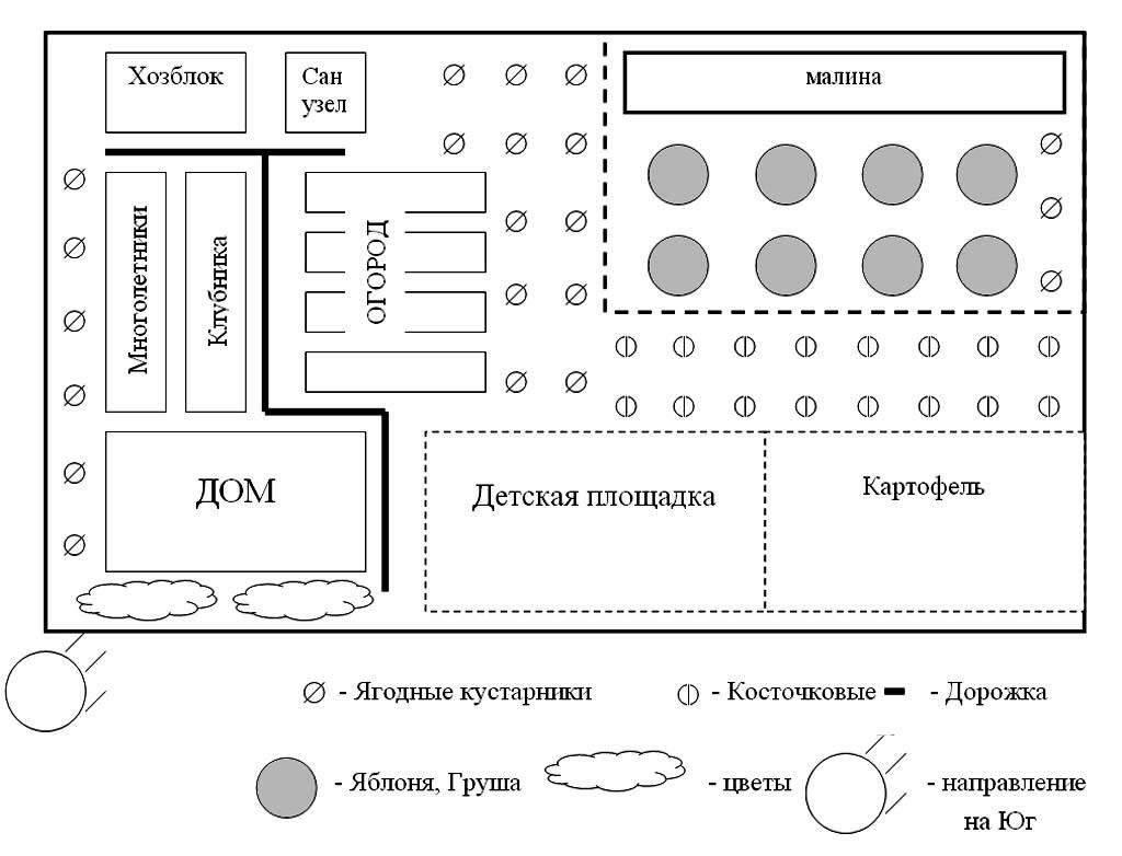 Принципы планировки дачного участка (75+ фото идей) +отзывы