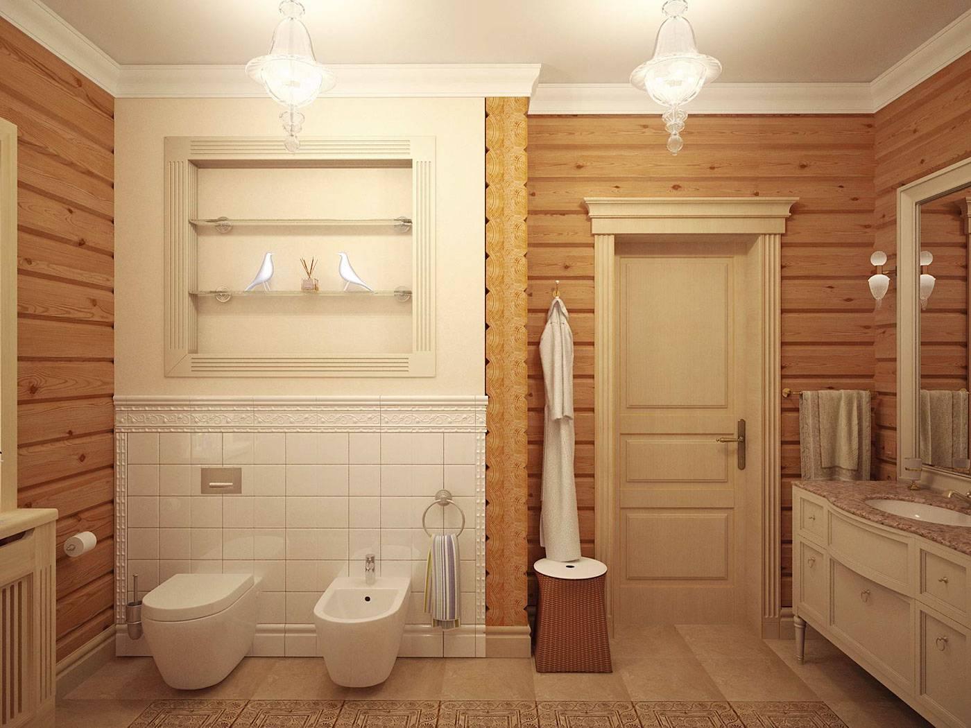 Ванная в деревянном доме - основные требования, подборка вариантов с фото дизайном – ремонт своими руками на m-stone.ru